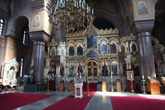 The iconostasis, Uspenski Cathedral, Helsinki, Finland, 2011. Artist: Sheldon Marshall
