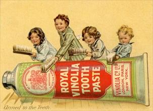 Royal Vinolia Toothpaste, 1910s. Artist: Unknown