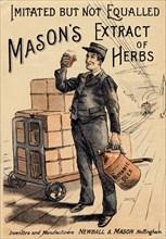 Mason?s Extract of Herbs, 19th century. Artist: Unknown