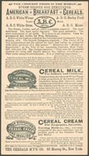 ABC American Breakfast cereals, 1900s. Artist: Unknown