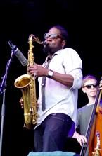 Soweto Kinch, Love Supreme Jazz Festival, Glynde, East Sussex, 2013. Artist: Brian O'Connor