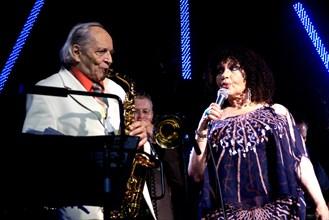 John Dankworth and Cleo Laine, Brecon Jazz Festival, Powys, Wales. Artist: Brian O'Connor