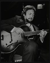 American guitarist Barney Kessel playing at the Middlesex and Herts Country Club, London, 1982. Artist: Denis Williams