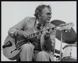 American guitarist Bucky Pizzarelli on stage at the Capital Radio Jazz Festival, London, 1979. Artist: Denis Williams