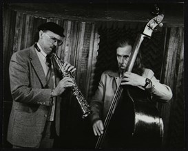 Don Lanphere and Peter Ind playing at The Bass Clef, London, May 1985. Artist: Denis Williams