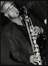 Art Themen playing tenor saxophone at The Fairway, Welwyn Garden City, 1993. Artist: Denis Williams