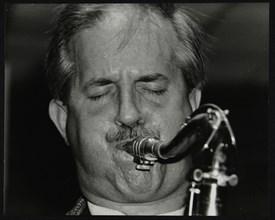 Tenor saxophonist Scott Hamilton playing at The Fairway, Welwyn Garden City, Hertfordshire, 1997. Artist: Denis Williams