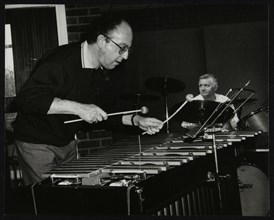 Roger Nobes and Johnny Richardson playing at The Fairway, Welwyn Garden City, Hertfordshire, 1991. Artist: Denis Williams