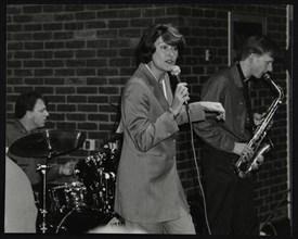 The Lee Gibson Quartet in concert at The Fairway, Welwyn Garden City, Hertfordshire, 1999. Artist: Denis Williams