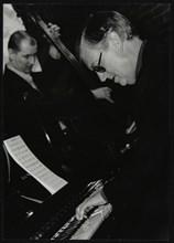 John Pearce and John Day playing at The Fairway, Welwyn Garden City, Hertfordshire, 2003. Artist: Denis Williams