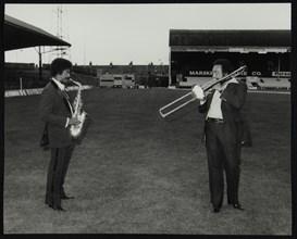 Charles McPherson and John Gordon at the Newport Jazz Festival, Ayresome Park, Middlesbrough, 1978. Artist: Denis Williams