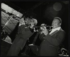 Trumpeters Joe Newman and Cat Anderson at the Newport Jazz Festival, Middlesbrough, 1978. Artist: Denis Williams