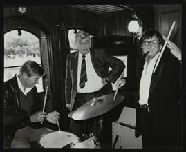 Drummers Jack Parnell and Barrett Deems, London, 1984. Artist: Denis Williams