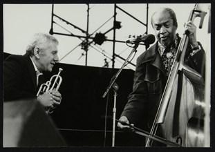 Ruby Braff and Slam Stewart at the Capital Jazz Festival, Alexandra Palace, London, July 1979. Artist: Denis Williams