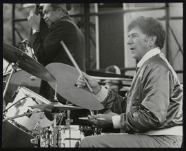 Slam Stewart and Shelly Manne on stage at the Capital Radio Jazz Festival, London, 1979. Artist: Denis Williams