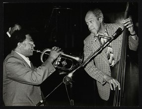 Clark Terry and Slam Stewart playing at the Capital Radio Jazz Festival, London, 1980. Artist: Denis Williams