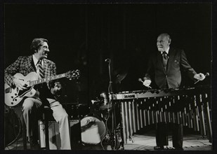 Tal Farlow (guitar) and Red Norvo (vibraphone) playing at Wallingford, Oxfordshire, 1981. Artist: Denis Williams