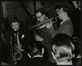 The Tubby Hayes Sextet playing at the Co-op Civic Centre, Bristol, 1950s. Pictured are Tubby Hayes ( Artist: Denis Williams