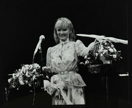 Petula Clark after a concert at the Forum Theatre, Hatfield, Hertfordsire, 1984. Artist: Denis Williams
