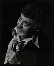 Frankie Laine on stage at the Forum Theatre, Hatfield, Hertfordshire, 10 May 1982. Artist: Denis Williams