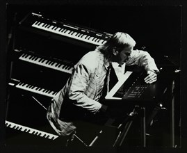 Rick Wakeman performing at the Forum Theatre, Hatfield, Hertfordshire, 6 October 1987. Artist: Denis Williams