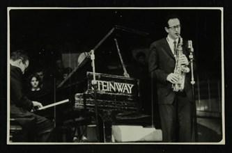 The Dave Brubeck Quartet in concert at Colston Hall, Bristol, 1958. Artist: Denis Williams