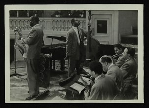 The Count Basie Orchestra in concert, c1950s. Artist: Denis Williams