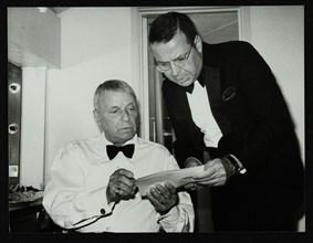 Frank Sinatra and Frank Sinatra Jr backstage at the Royal Albert Hall, London, 28 May 1992. Artist: Denis Williams