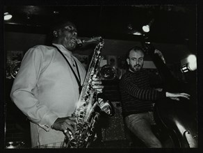 Eddie 'Lockjaw' Davis and Jim Richardson playing at The Bell, Codicote, Hertfordshire, 1982. Artist: Denis Williams