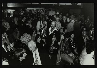 Saxophonists Red Holloway and Sonny Stitt at The Bell, Codicote, Hertfordshire, 24 November 1980. Artist: Denis Williams