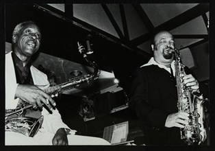 Sonny Stitt and Red Holloway playing at The Bell, Codicote, Hertfordshire, 24 November 1980. Artist: Denis Williams