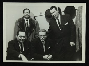 Band members of the Eddie Condon All Stars, 1957. Artist: Denis Williams