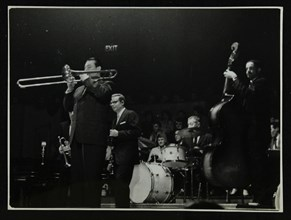 The Eddie Condon All Stars in concert, Colston Hall, Bristol, 1957. Artist: Denis Williams
