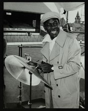 Drummer Mickey Roker at the Newport Jazz Festival, Ayresome Park, Middlesbrough, 1978. Roker was pla Artist: Denis Williams