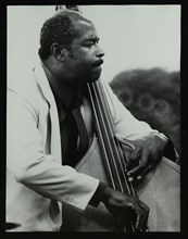 Bassist Eddie Jones playing at the Capital Radio Jazz Festival, Knebworth, Hertfordshire, 1982. Artist: Denis Williams