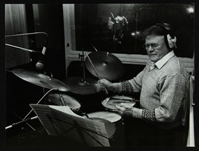 Drummer Bobby Orr at the Ted Taylor recording studio, London, 12 January 1988. Artist: Denis Williams