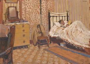 'Working man's bedroom', 1930s. Artist: Edward Morland Lewis