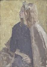 'Girl in profile', 1900-1939. Artist: Gwendolen Mary John