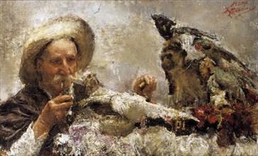 'The fortune teller', 1870-1930. Artist: Antonio Mancini