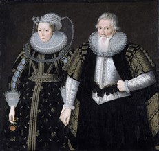 'Sir Thomas Mansel and his wife Jane', 1625. Artist: Unknown.