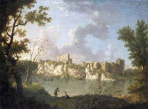 'Chepstow Castle', c1770s. Artist: John Inigo Richards