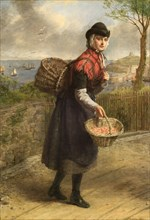 'Tenby prawnseller', 1839-1909. Artist: William Powell Frith.