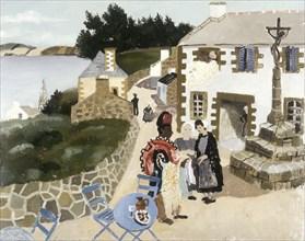 'The rug seller, Treboul', 1930. Artist: Christopher Wood