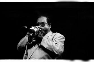 Nat Adderley, Jazz Cafe, London, 1993. Artist: Brian O'Connor.
