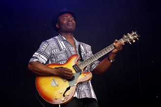 Chris Cobbson, Love Supreme Jazz Festival, Glynde Place, East Sussex, 2014. Artist: Brian O'Connor.