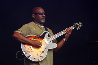 Cameron Pierre, Love Supreme Jazz Festival, Glynde Place, East Sussex, 2014. Artist: Brian O'Connor.