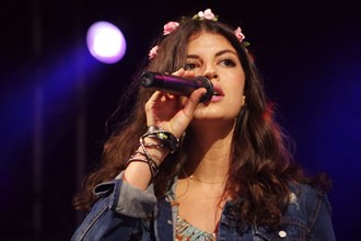 Nikki Yanofsky, Love Supreme Jazz Festival, Glynde Place, East Sussex, 2014.  Artist: Brian O'Connor.