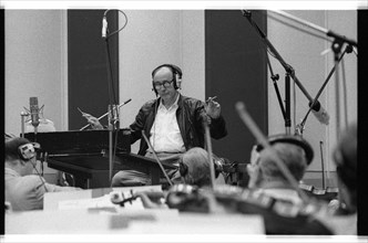 Henry Mancini, CTS Studios, Wembley, London, 1990.  Artist: Brian O'Connor.