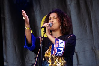 Neneh Cherry, Love Supreme Jazz Festival, Glynde Place, East Sussex, 2015. Artist: Brian O'Connor.
