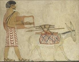 Copy of wall painting, private tomb 3 of Khnumhotpe III, Beni Hasan, 20th century. Artist: Anna (Nina) Macpherson Davies.
